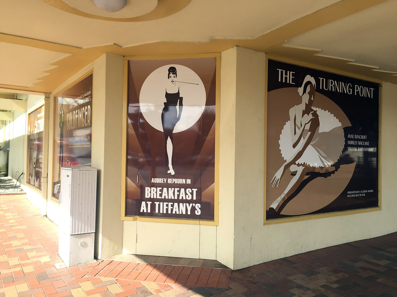 The front facade of the theatre in Nelson Central, New Zealand