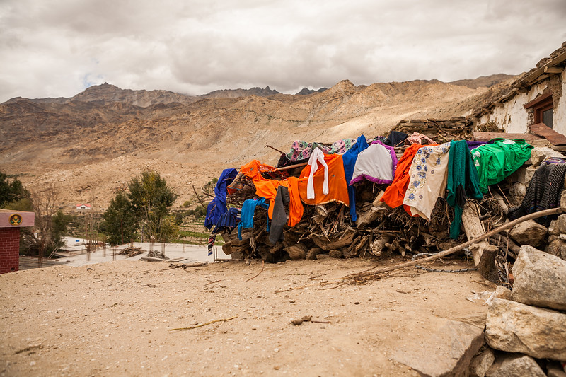 Village Nako, Himachal Pradesh, India