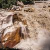 Water of river Bhagirathi gushing down at Suryakund at Gangotri, Uttarakhand