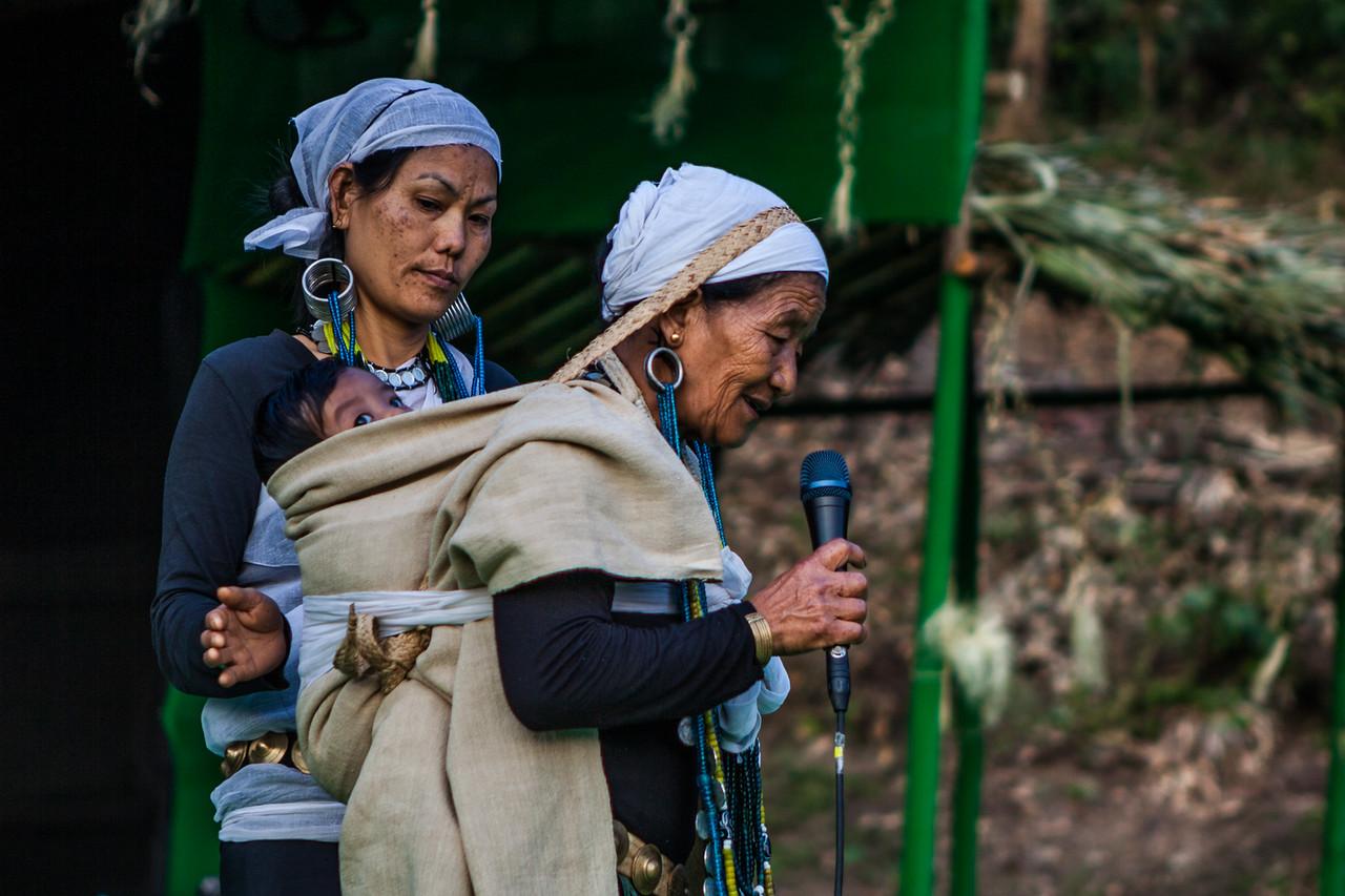 Grandmom singing a lullaby at Basar Confluence, BasCon, Basar, Arunachal Pradesh, India