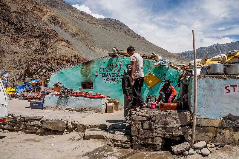 Chacha-Chachi dhaba at Batal on the way from Manali to Kaza in the Spiti valley
