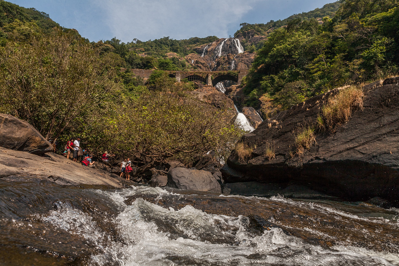 Dudhsagar waterfall in Bhagwan Mahaveer Wildlife Sanctuary, Goa