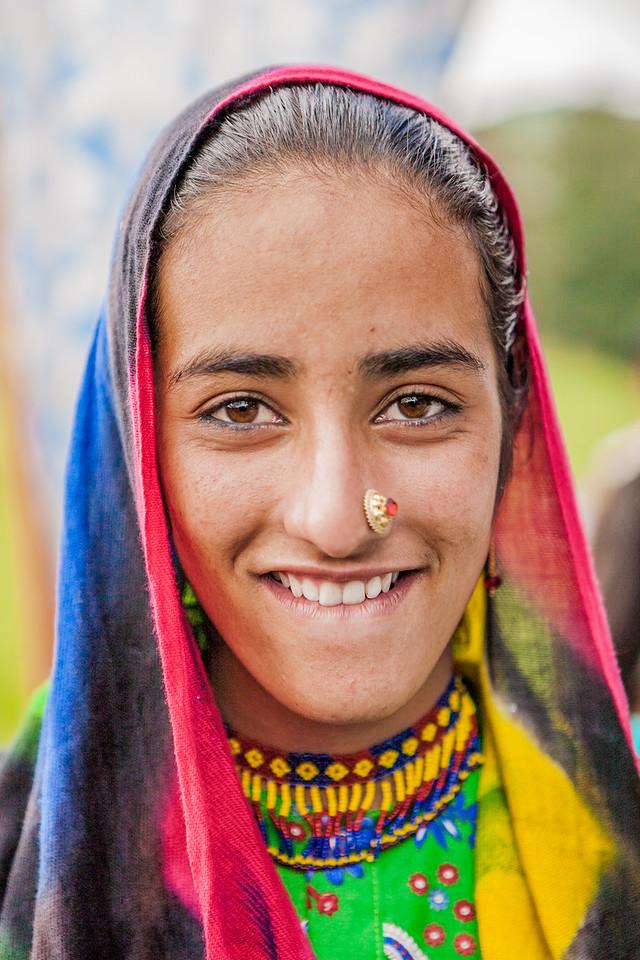 A Gujjar woman on Dayara Bugyal for the butter festival
