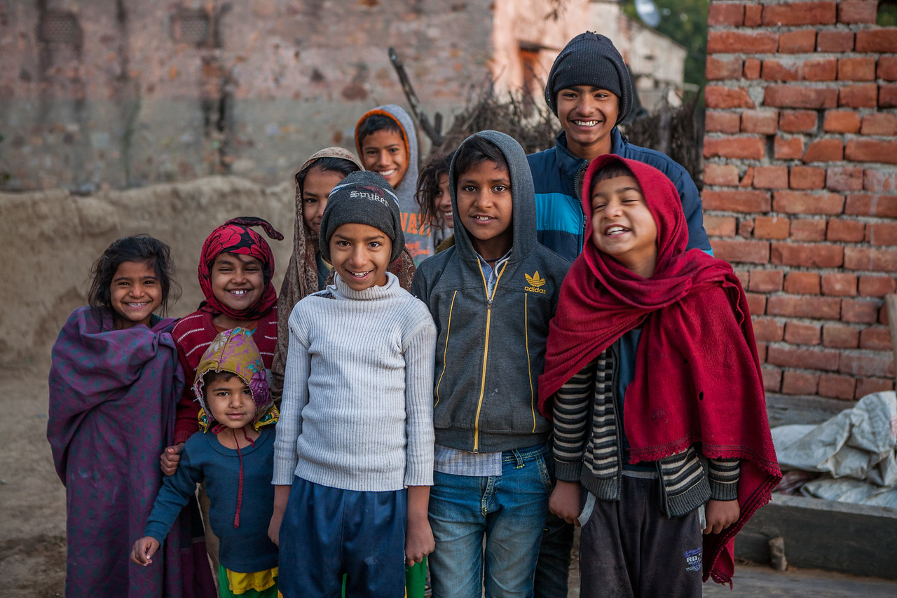 Smiling kids of Jaipura Garh, Rajasthan, India