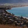 The Kaikoura coast seen from atop the peninsula