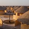 Bhunga huts in the White Rann Resort in Kutch, Gujarat, India