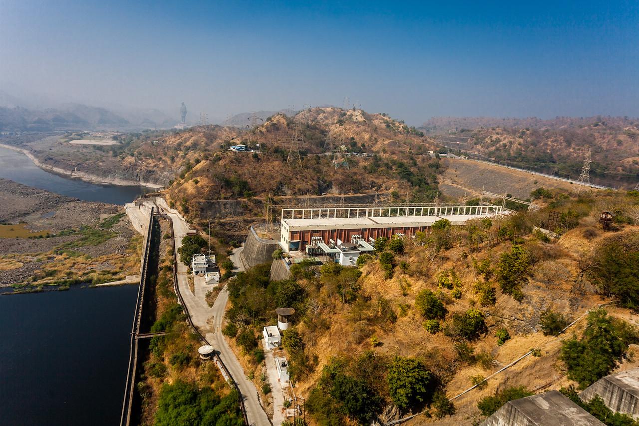 Power Plant at Sardar Sarovar dam, Kevadia, Gujarat, India