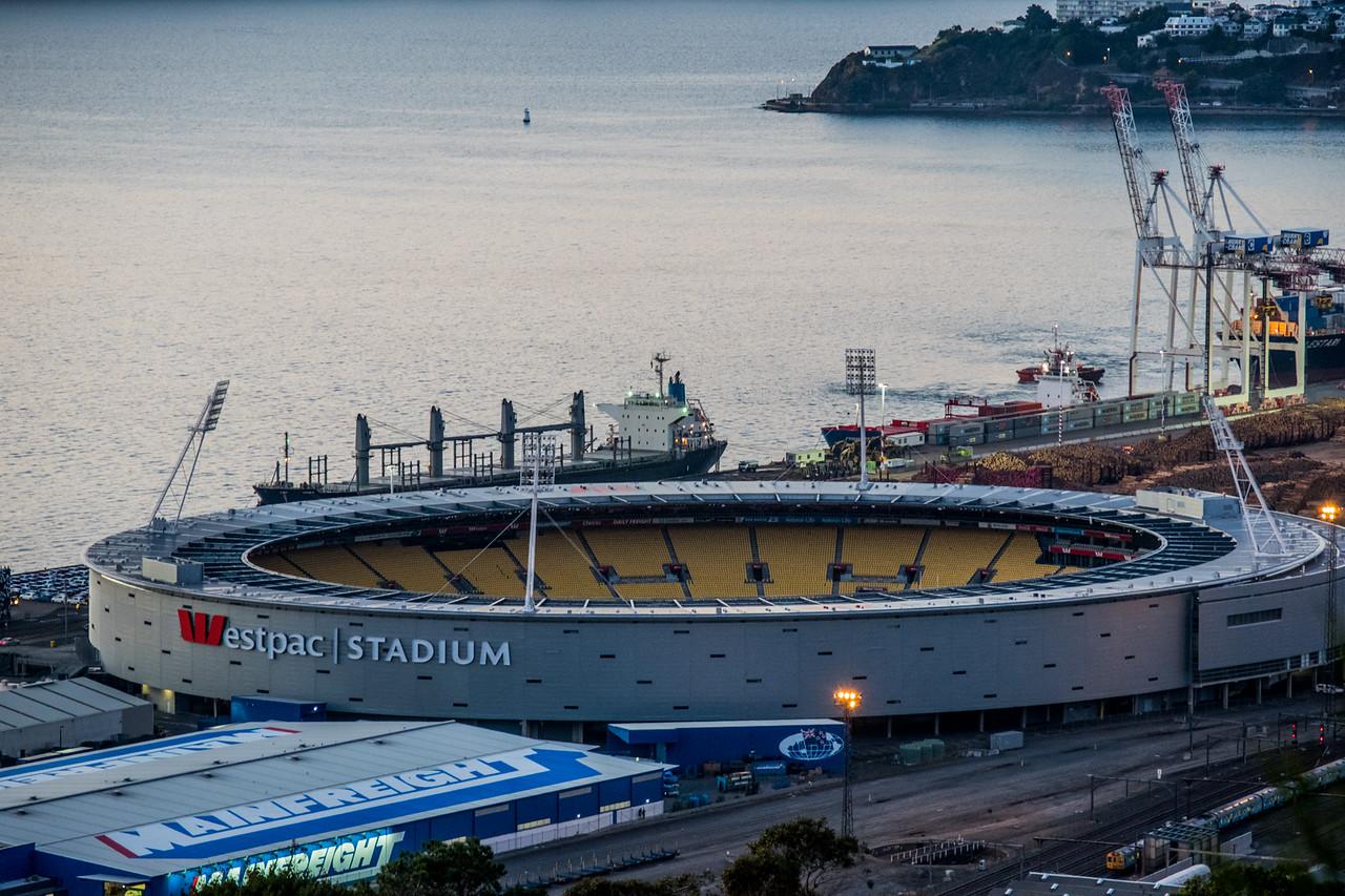 Westpac Stadium, All Blacks home venue; New Zeland