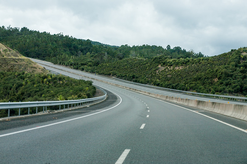 North bound NH1 out of Auckland, New Zealand