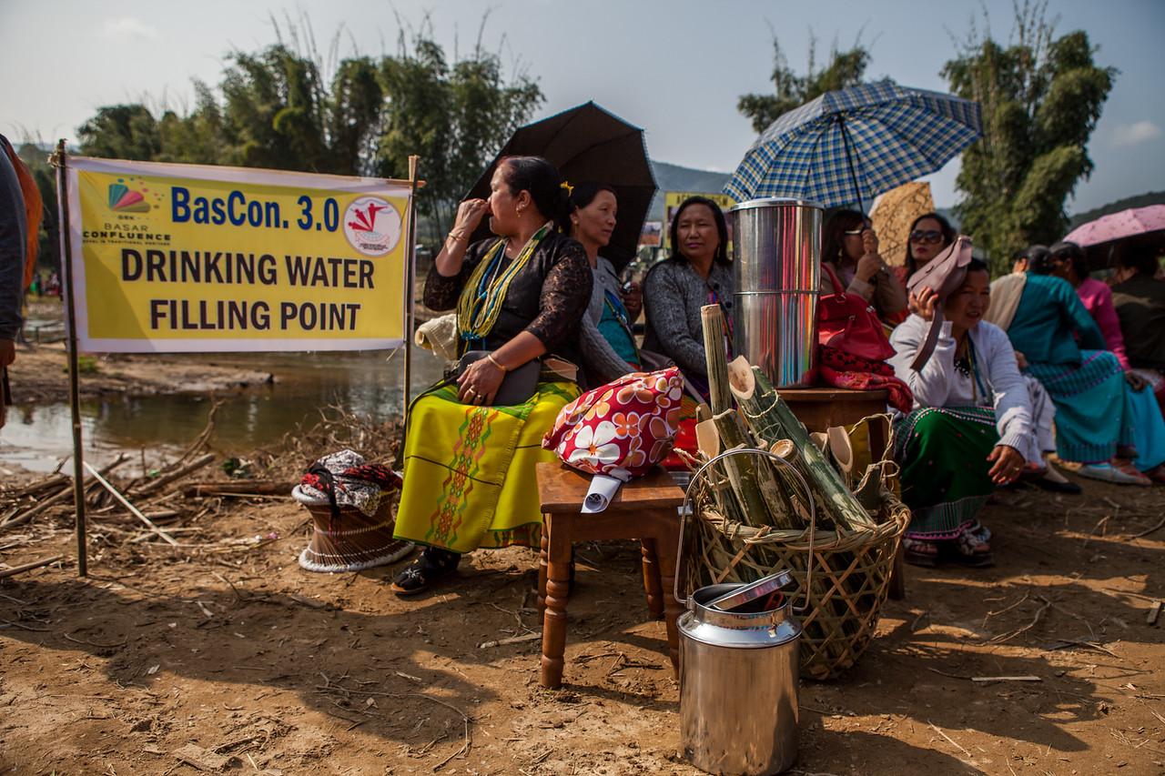 Water filling station at the Basar Confluence, BasCon, Basar, Arunachal Pradesh, India