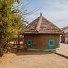 Bhunga huts in the village of Hodko in the Kutch region of Gujarat, India