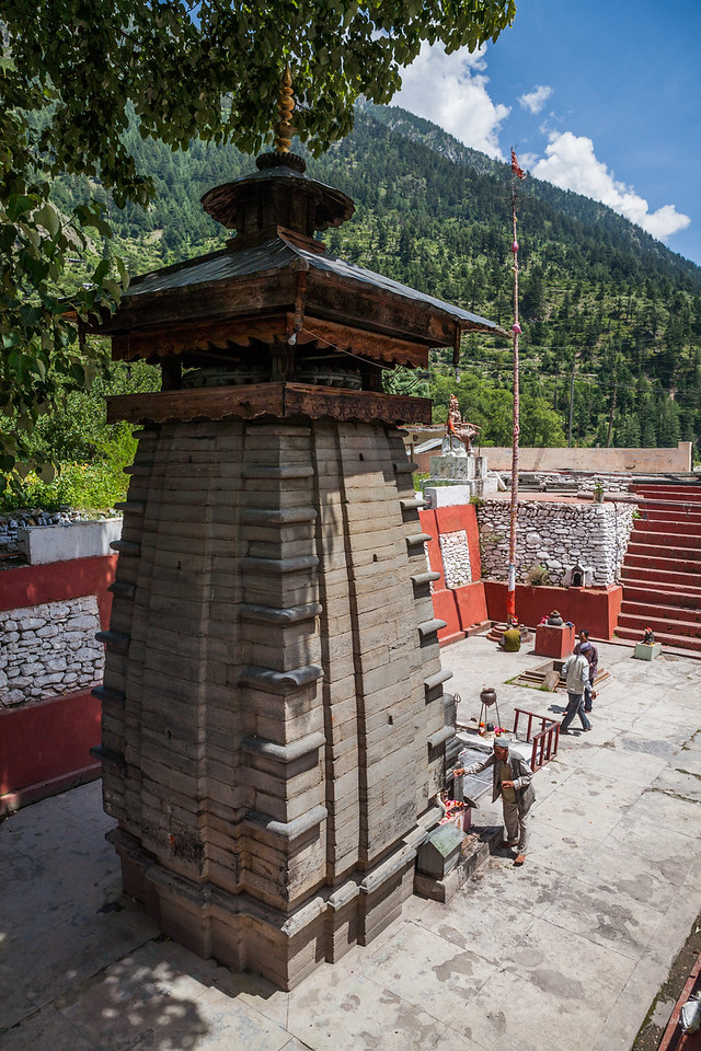 An old Kalpakedar temple on the way to Gangotri in Uttarakhand