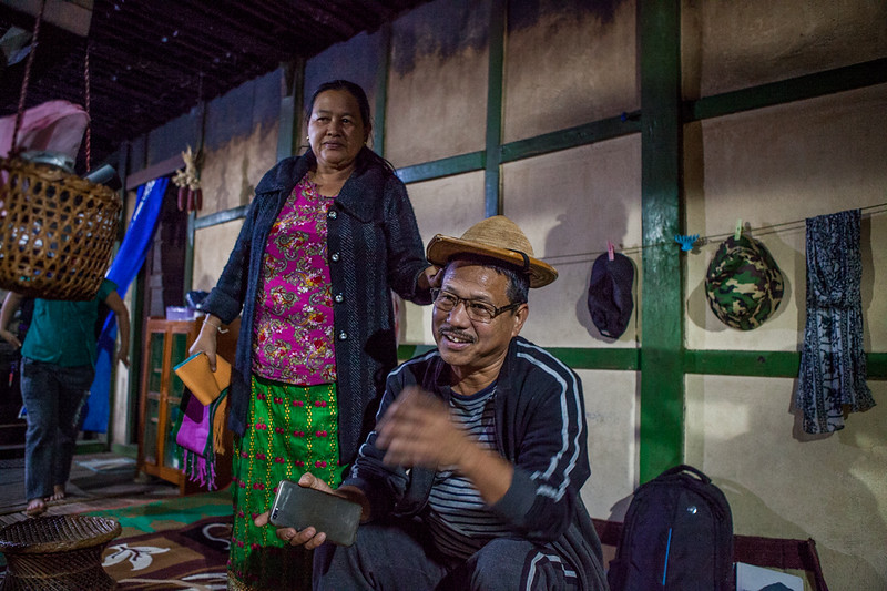 A Galo couple from Basar, Arunachal Pradesh, India