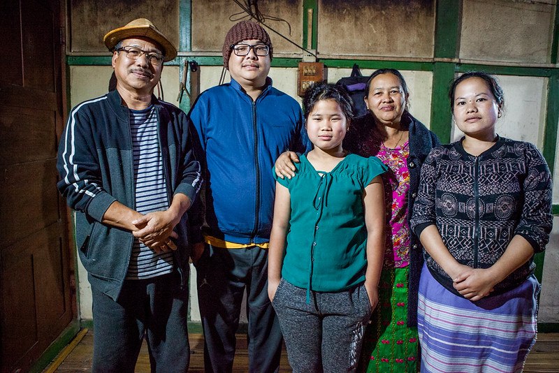 A Galo family from Basar, Arunachal Pradesh, India