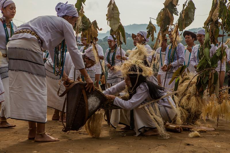 Mopin festival performance, Basar, Arunachal Pradesh, India
