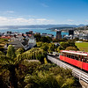 The cable car from the top of the Botanical garden to the city centre in Wellington, New Zealand