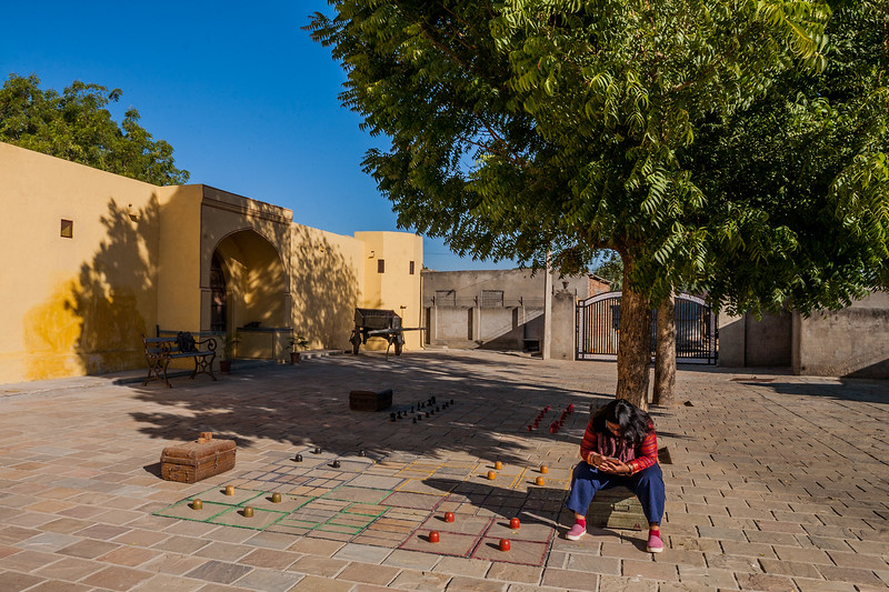 Outdoor and life size games of ludo and chess at SaffronStays Jaipura Garh, Rajasthan, India