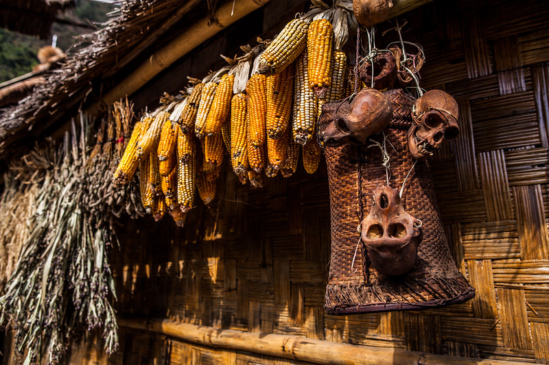 Entry to the morung of the Sangtam tribe at the Hornbill festival in Nagaland, India