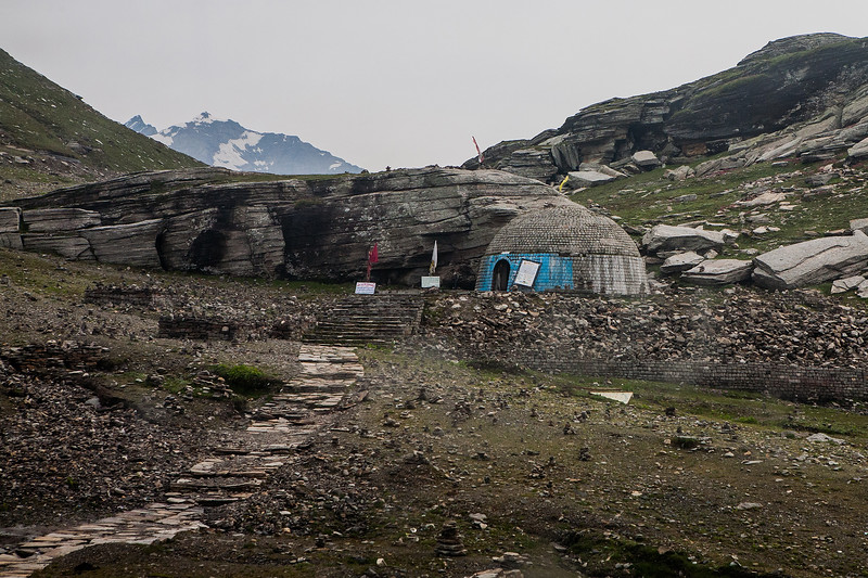Rohtang Pass on the way from Manali to Kaza in the Spiti valley