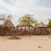 Bhunga huts in the village of Hodko in the Kutch region of Gujarat, India