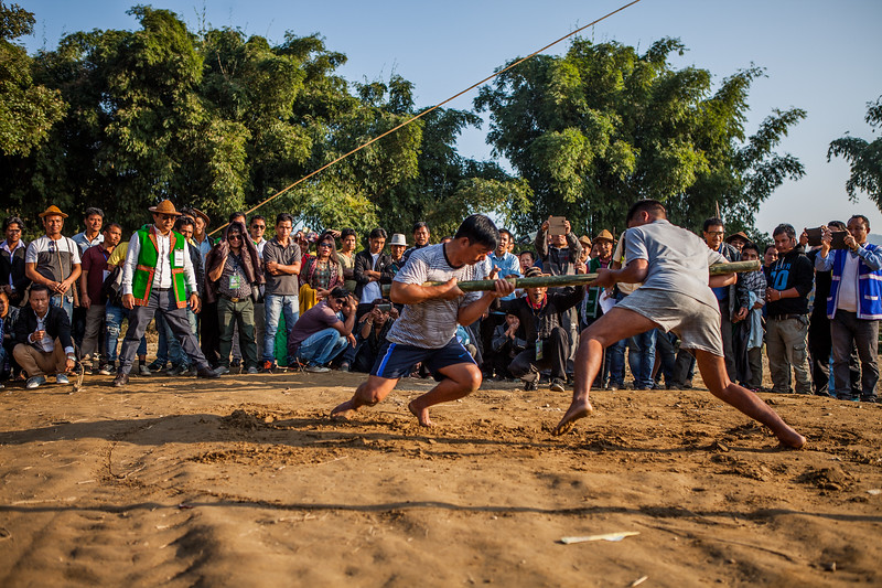 Traditional sports at the Basar Confluence, BasCon, Basar, Arunachal Pradesh, India