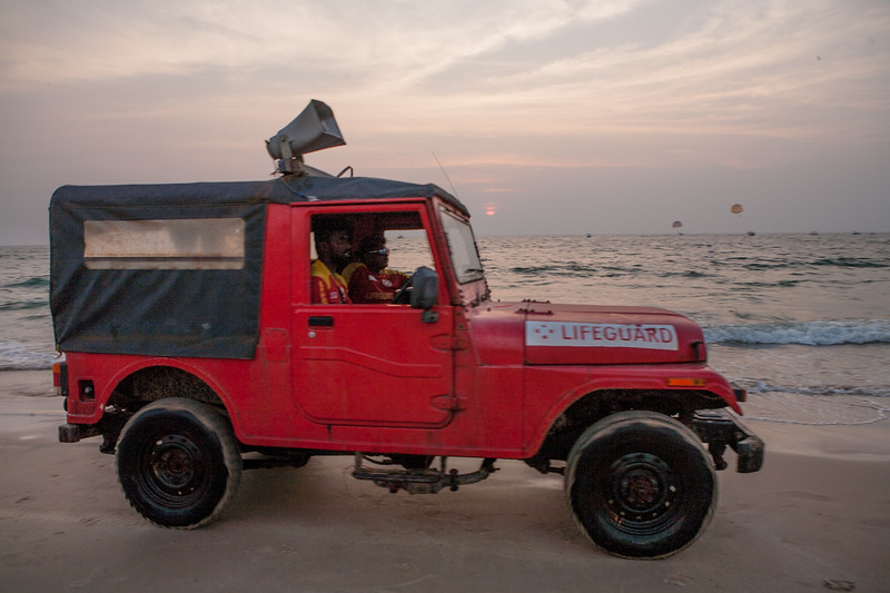Life guards at Calangute beach in Goa