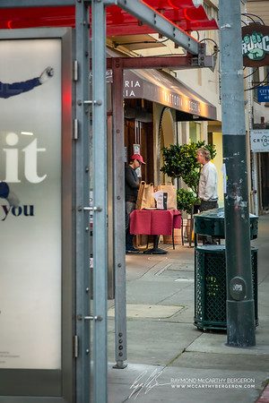 Pane e Vino Trattoria Pizzeria remains open for togo orders as man picks up his.