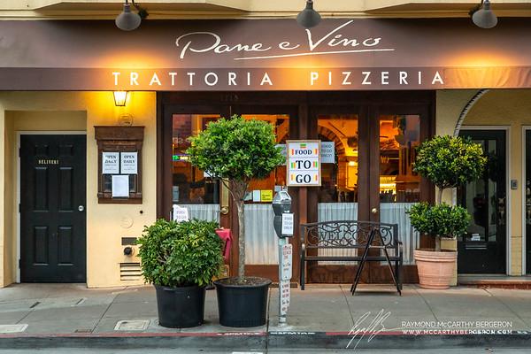 Pane e Vino Trattoria Pizzeria remains open for togo orders.