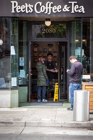 Another coffee chain, Peet's remains open but only orders at the door will be taken.