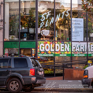 Golden Farmer's Market remains open while Crustacean Restaurant states it's open for take-out, thanking people and wishing them to stay healthy.