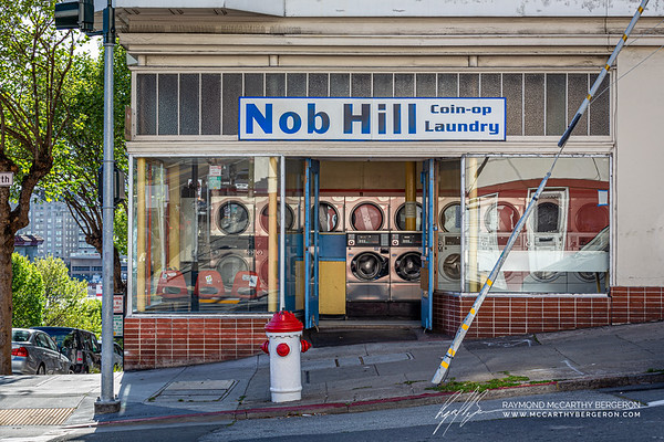 Nob Hill Coin-op Laundry is still in use, but by one patreon.