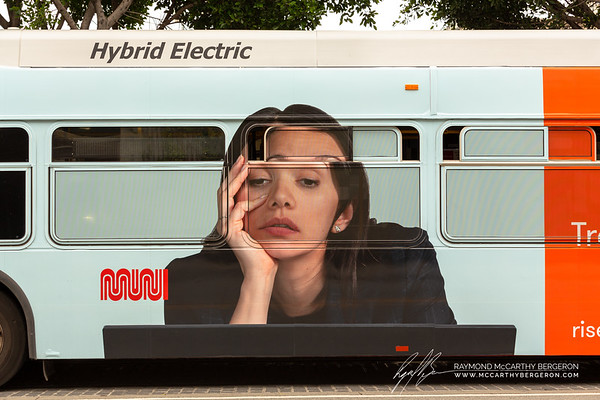 Current mood of the region reflected in an ad on the said of a bus.