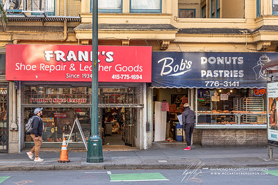 Both Frank's Shoe Repair & Leather Goods, as well as Bob's Donuts Pastries stay open.