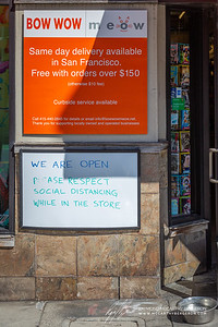 Bow Wow Meow remains open, but asks patrons to respect the social distancing in the store.