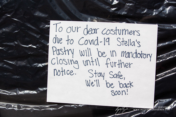 Stella's Pastry posts their choice to close down for the time being and wishes everyone to stay safe.