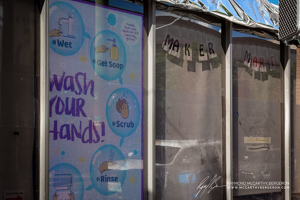 Maker Mart advertises the proper procedure to wash your hands.