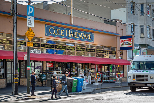 Several hardware stores, like Cole Hardware, remains open to the public.