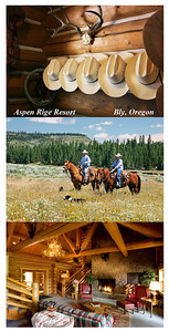 Aspen Ridge Ranch  http://www.aspenrr.com/home.htm    Great place to do a little branding, the white cowboy hats are provided for guests who can help in the roundups, or just fish the provate lake, and enjoy the scenery.