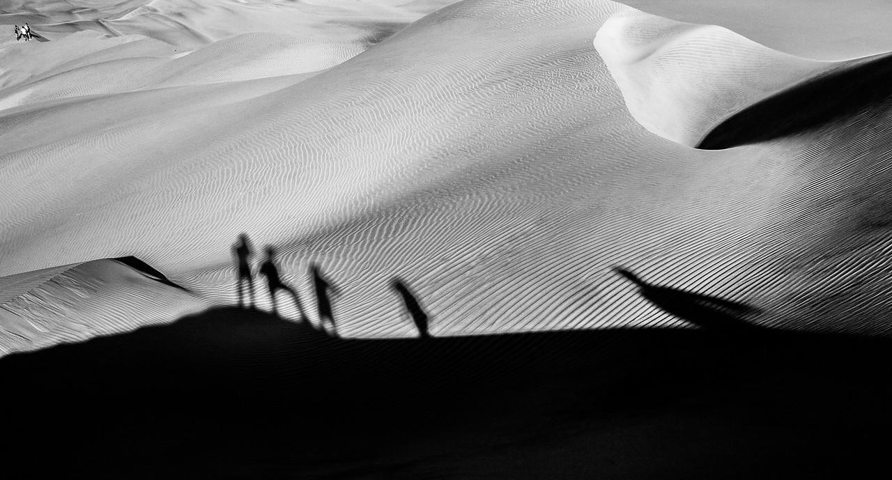 Sand dunes of Huacachina, Peru