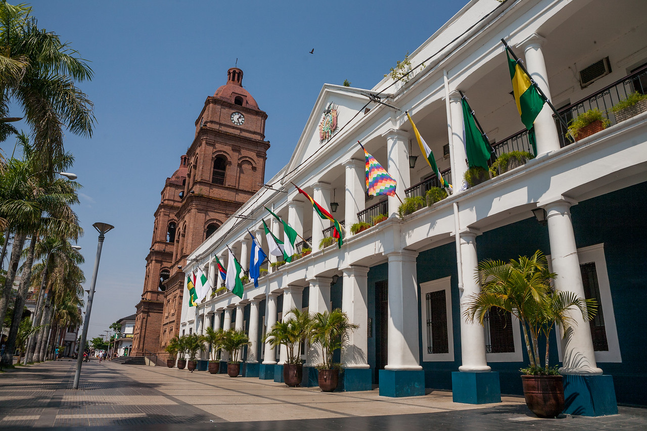 Main plaza at Santa Cruz, Bolivia