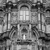 Church built over the former Incan palace in Plaza de Armas, Cusco, Peru