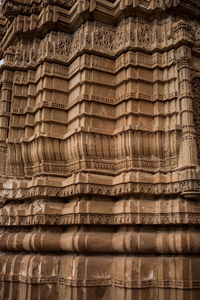 Exterior columns at Jami Masjid at Champaner n Gujarat, India