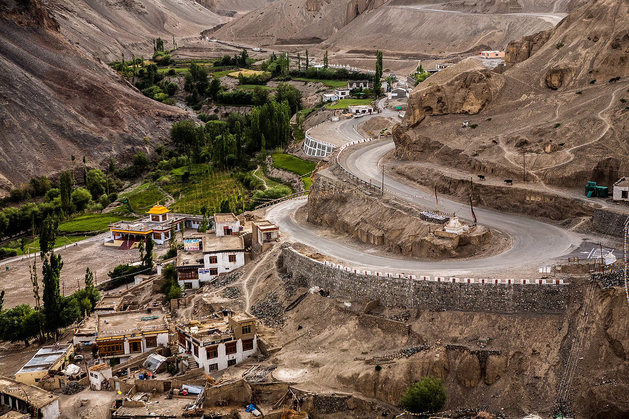 View from the Lamayuru meditation hill, Ladakh, India