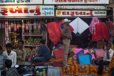 The markets of Ahmedabad geared up for the kite flying festival of Makar Sankranti or Uttarayan
