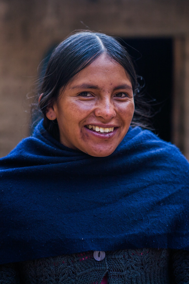 Local girl from the village of Tarabuco, Sucre, Bolivia