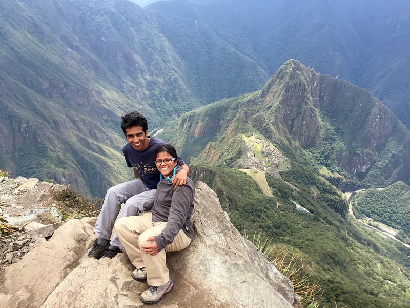 Sandeepa and Chetan at Machu Picchu in Peru