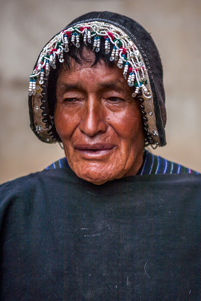 Local man from the village Tarabuco, Sucre, Bolivia