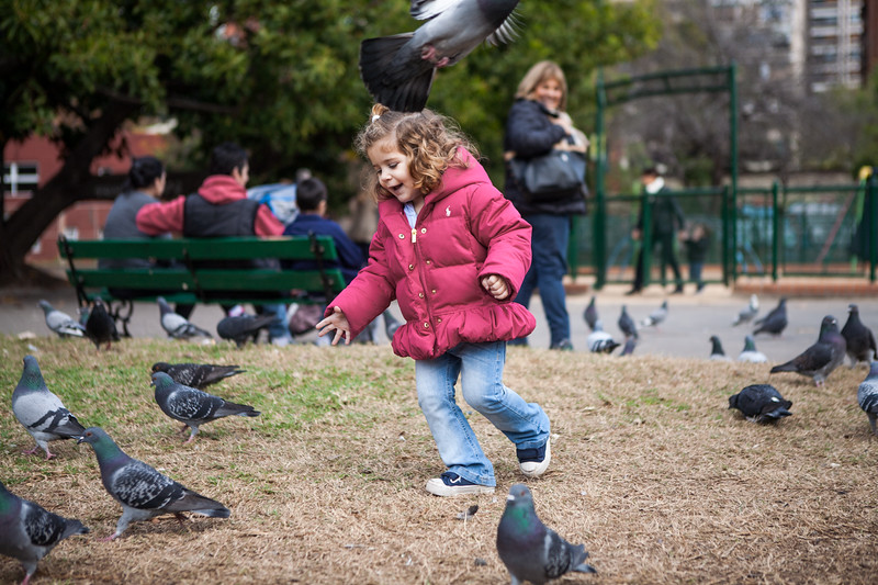 Children playing in a public park in Buenos Aires, Argentina