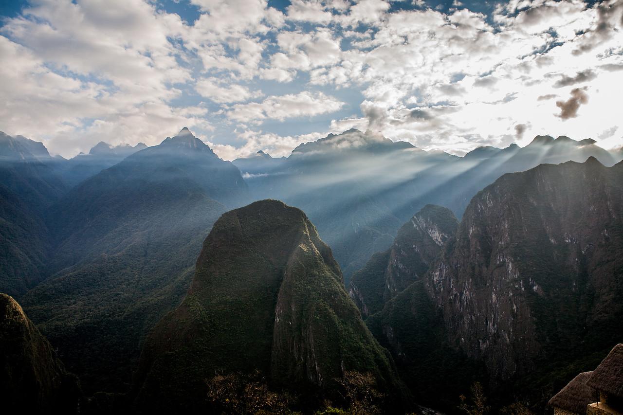 The mountains surrounding the UNESCO world heritage site, Machu Picchu in Peru