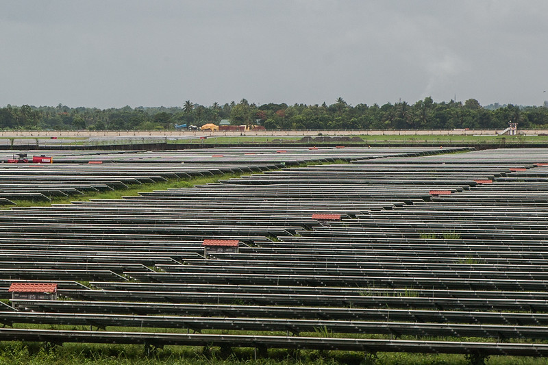 Solar farms outside the Cochin International Airport, Kerala